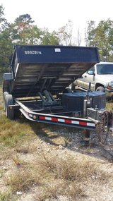 Dump trailer in DeRidder, Louisiana