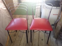 "2 red ""retro"" chairs in Morris, Illinois"