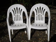 2 plastic lawn chairs in Lockport, Illinois