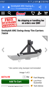 07-15 smittybilt swing away tire carrier in Yucca Valley, California