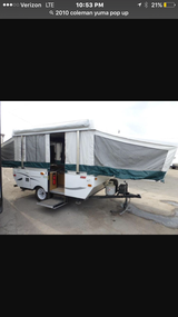 2010 Coleman Yuma 4456 pop up pull camper in Camp Lejeune, North Carolina