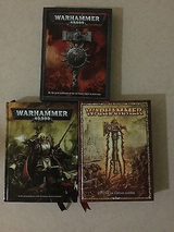3 WARHAMMER  LARGE HARDBACKS -  2 are WARHAMMER 40,000    - 1 is HTF  FANTASY BATTLE in Okinawa, Japan