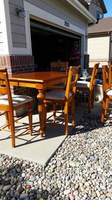 Solid Wood Table 6 Chairs in Fort Carson, Colorado