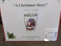 NEW IN BOX CHRISTMAS GLASSES in Hinesville, Georgia