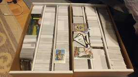 Hundreds and hundreds of football cards in Fort Irwin, California