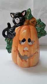 "5""x7"" Ceramic Pumpkin Votive Holder in The Woodlands, Texas"
