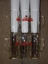Set of 6 Stuttgarter Hofbrau Glass Steins in Stuttgart, GE