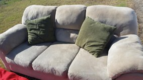 Ashley / Beige / Microfiber Sofa in Fort Campbell, Kentucky