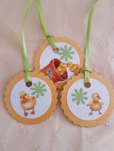 9 Easter Gift Tags Handmade in Ramstein, Germany