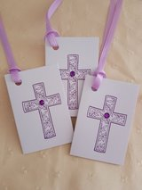 7 Cross Gift Tags Handmade (Folded) in Ramstein, Germany