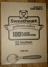 New Sweetheart Heavy Duty White Soup Spoons 100/bx in Macon, Georgia