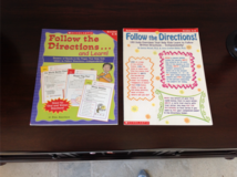 NEW (unused) 2 Scholastic Workbooks on Following Directions Grades 3-6 in Chicago, Illinois