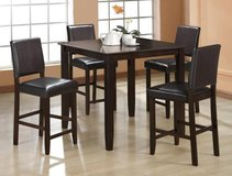SALE! 30-50% OFF RETAIL! URBAN STYLING 5PC PUB DINING SET !! PLUS FREE LARGE BODY PILLOW GIFT! in Vista, California