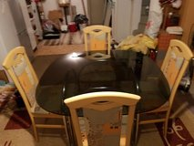 Glass top dining table and 4 chairs in Ansbach, Germany