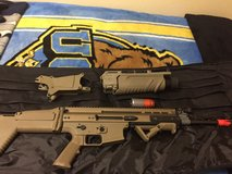 Scar-H airsoft w/320 attachment in Fort Irwin, California