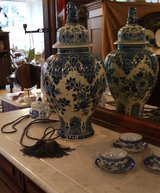 very unusual tall Delft vase in Spangdahlem, Germany