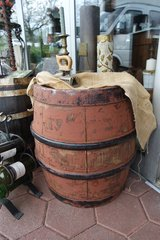 rustic French beer barrel from Amos brewery in Spangdahlem, Germany