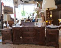 solid tiger oak dresser with 3 piece mirror in Spangdahlem, Germany