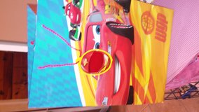 "NEW!!""HallMark"" LARGE ""Cars""GIFT BAG in Aurora, Illinois"