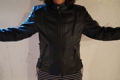 Women's Leather Motorcycle Jacket-Small in Alamogordo, New Mexico