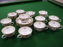 Schumann Empress Dresden Flowers Cups and Saucers in Chicago, Illinois