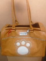 luxury pet carrier bag (NEW) + (LEATHER) in Huntington Beach, California