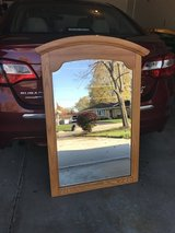Beveled Mirror Solid Oak Frame in Chicago, Illinois