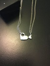 Two Hearts in one necklace set in Lockport, Illinois