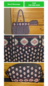 Vera Bradley Shoulder Bag/ Cosmetic case in Wheaton, Illinois
