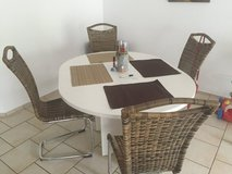 White Dining room table and 4 chairs in Bolling AFB, DC