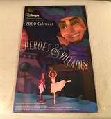 2000 Disney Heroes & Villains Calendar in Shorewood, Illinois