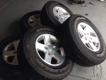 "Jeep Wrangler Sport 17"" Wheels and Tires - $450 (Chula Vista/Eastlake) in San Ysidro, California"