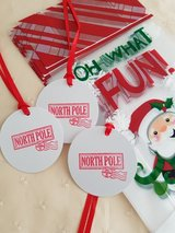 SALE -  Christmas  Treat Bags With Tags Handmade 20 Bags Available in Ramstein, Germany
