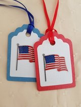 9 Flag Gift Tags Handmade in Ramstein, Germany