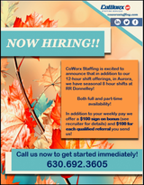 Now Hiring in Joliet, Illinois