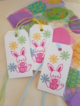 8 Easter Treat Bags With Tags Handmade in Ramstein, Germany