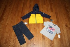 New with tag Baby/Toddler Boy Nautica 3 Piece Set: Jeans, Windbreaker Jacket, T-shirt, size 18m in Elgin, Illinois