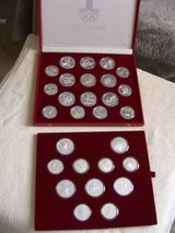 Silver coins Moscow Olympics 1980 in Ramstein, Germany