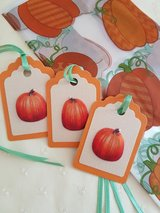 SALE - 9 Fall Treat Bags With Tags Handmade in Ramstein, Germany