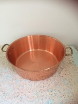 Big antique copper confiture bowl from France in Ramstein, Germany