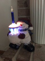 Snowman With Bubblelight in Bolingbrook, Illinois
