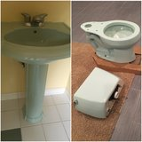 Kohler - Bathroom Pedestal sink and Toilet in DeKalb, Illinois