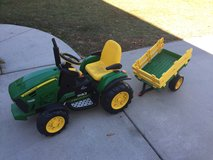 Electric tractor with trailer in Beaufort, South Carolina
