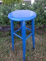 Pretty blue stool in Byron, Georgia