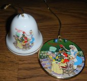 Disney Alice In Wonderland Christmas Ornament Lot Grolier Bell Christmas In Wonderland in Houston, Texas