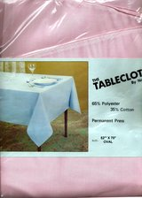 BRAND NEW Fabric Tablecloths Made in America by Famous Mills Ass't. Sizes & Colors in Wilmington, North Carolina