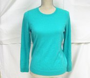 100% PURE CASHMERE Med NWT Talbots Petites Green Blue Turquoise Teal SOFT M MP in Kingwood, Texas