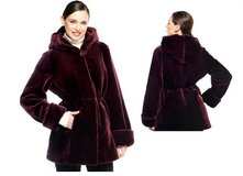Dennis Basso Faux Fur Zip Front Coat with Hood in Tacoma, Washington