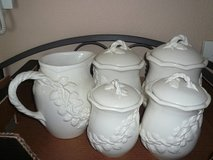 8-pc Porcelain Canister/Serving Set in Fort Belvoir, Virginia