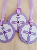 7 Cross Gift Tags Handmade in Ramstein, Germany